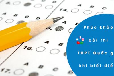 Thông báo về việc phúc khảo bài thi tốt nghiệp THPT năm 2021