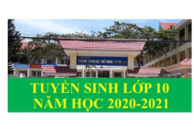 Kế hoạch tuyển sinh vào lớp 10  năm học 2020-2021